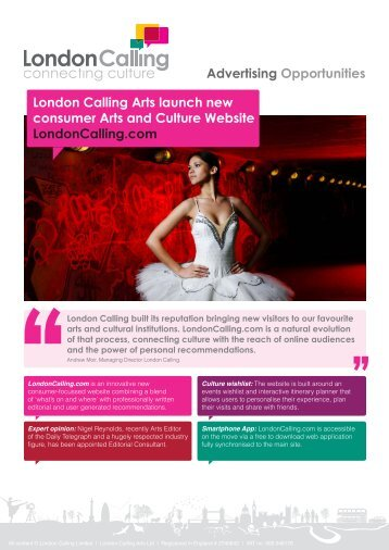 Advertising Specifications - London Calling