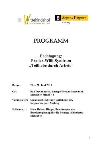 PROGRAMM - Regens Wagner Absberg
