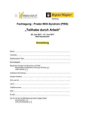 Anmeldung - Regens Wagner Absberg