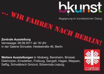 Flyer zur zentralen Ausstellung - b-kunst