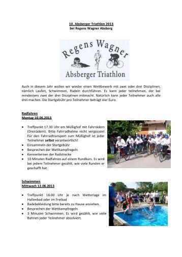 Triathlon-Ausschreibung (PDF) - Regens Wagner Absberg
