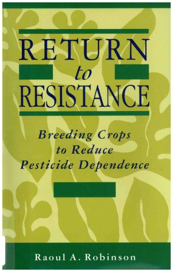 Breeding Crops to Reduce Pesticide Dependence