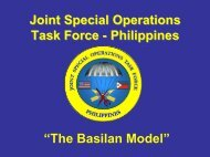 """The Basilan Model"" Joint Special Operations Task Force ..."