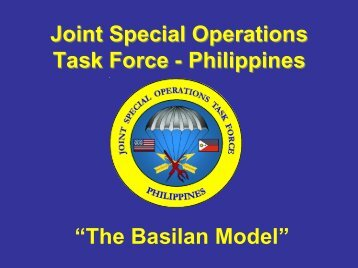 """""""The Basilan Model"""" Joint Special Operations Task Force ..."""