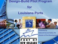 Port Design-Build Pilot Program