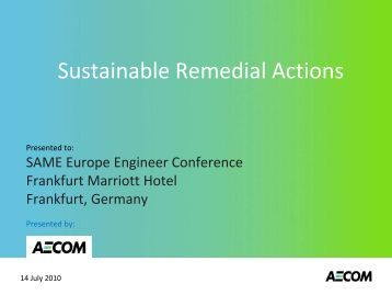 Sustainable Remedial Actions