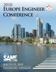 2010 Europe Engineer Conference - Society of American Military ...