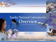 Sandia Corporate Overview - Core group