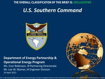 Operational Energy - Society of American Military Engineers