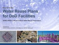 Water Reuse Plans for DoD Facilities