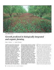 Growth predicted in biologically integrated and organic farming ...