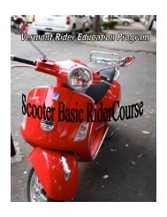 detailed information concerning the Scooter Basic RiderCourse