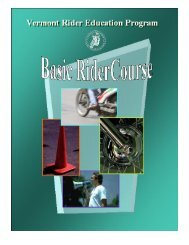 Basic RiderCourse (BRC) - Vermont Department of Motor Vehicles