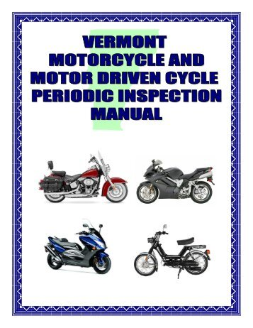 Inspection Manual (Motorcycle & Moped) - Vermont Department of ...