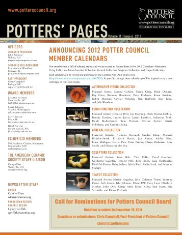 POTTERS' PAGESVolume 11 • Issue 6 • 2011 - Ceramic Arts Daily
