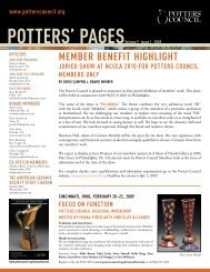 pOTTERs' pAgEsVolume 9 • Issue 1 • 2009 - Ceramic Arts Daily