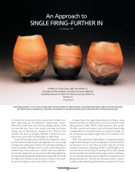 An Approach to Single Firing: Further In - Ceramic Arts Daily