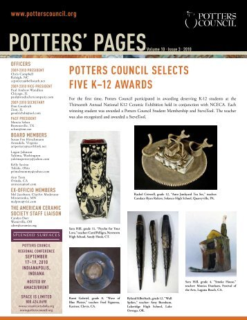 POTTERS' PAGESVolume 10 • Issue 3 • 2010 - Ceramic Arts Daily