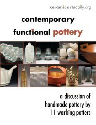 contemporary functional pottery - Ceramic Arts Daily