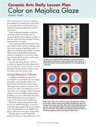 Color on Majolica Glaze - Ceramic Arts Daily