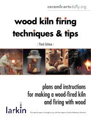 wood kiln firing techniques & tips techniques & tips - Ceramic Arts ...