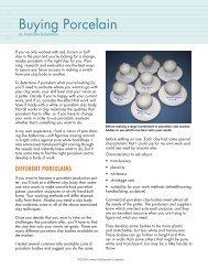 Buying Porcelain - Ceramic Arts Daily