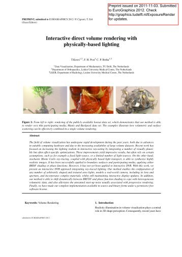 Kroes2011.pdf - Computer Graphics and Visualization - TU Delft