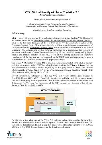 VRX_2.0_description.pdf - Computer Graphics and Visualization ...