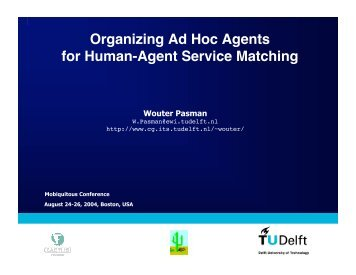 Organizing Ad Hoc Agents for Human-Agent Service Matching