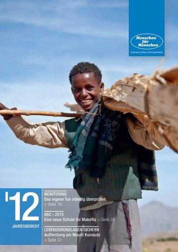 Jahresbericht der Stiftung Menschen für Menschen 2012