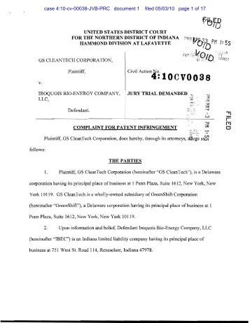 case 4:10-cv-00038-JVB-PRC document 1 filed 05/03/10 page 1 of 17