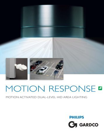 Motion Response System- Dual Level HID Area ... - Gardco Lighting