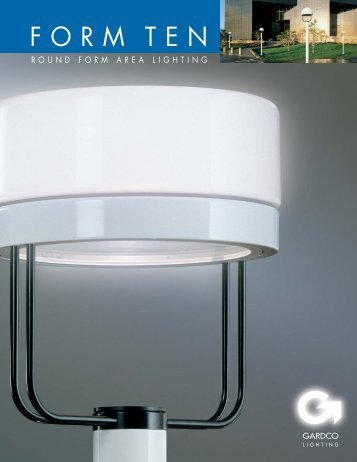 Gardco Round Form Ten Brochure - Gardco Lighting