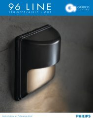 Gardco 96 LINE LED Step/Aisle Lights Brochure - Gardco Lighting