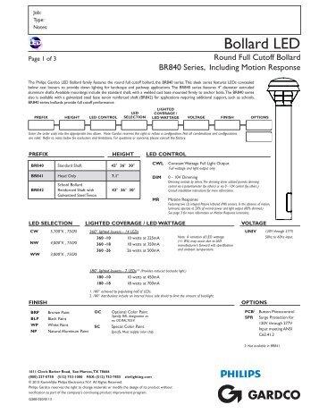 Gardco LED Bollard - Full Cutoff - BR840 ... - Gardco Lighting  sc 1 st  Yumpu & ENERGY EFFICIENCY The lig azcodes.com