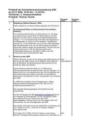 Protokoll der Sitzung vom 20.11.2008 - GEB Stuttgart