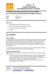 Protokoll der Sitzung vom 14.11.2011 - GEB Stuttgart