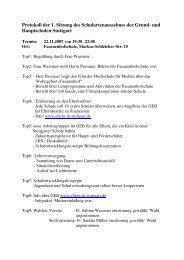 Protokoll der Sitzung vom 22.11.2007 - GEB Stuttgart