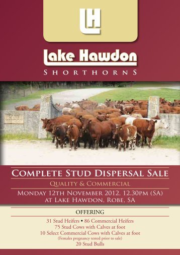 Sale Catalogue - Livestock - Landmark