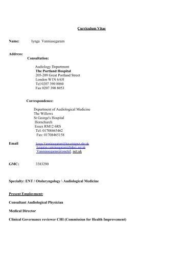 Curriculum Vitae Name: Iynga Vanniasegaram Address ... - APIL