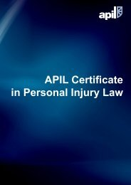 APIL Certificate in Personal Injury Law