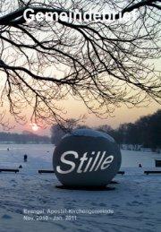 """""""Stille"""" des Gemeindebriefes"""