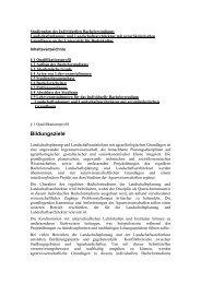 Bachelor Landschaftsplanung und Landschaftsarchitektur mit ...