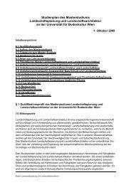 Studienplan des Masterstudiums Landschaftsplanung und ...