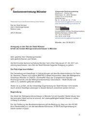 Ratsantrag der Seniorenvertretung Münster