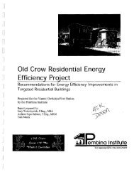 Old Crow Residential Energy Efficiency Project Recommendations ...