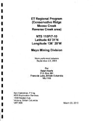 ET Regional Program (Conservative Ridge Moose Creek Reverse ...