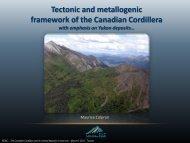 Tectonic and metallogenic framework of the Canadian Cordillera
