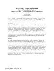 a summary of rock-Eval data for the Bonnet plume Basin, Yukon ...