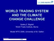 World Trading System and the Climate Change Challenge